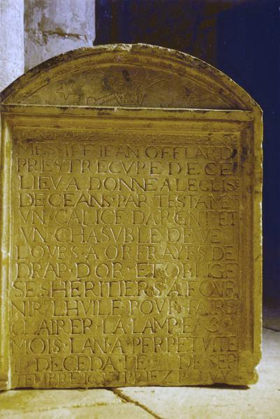 plaque funéraire de Jean Offlard