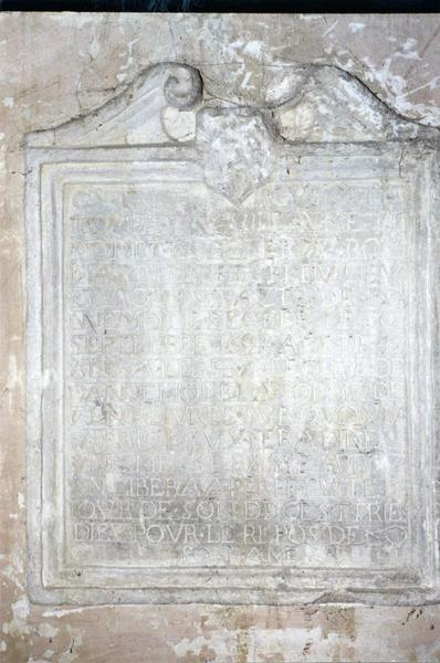plaque funéraire de Claude Simonet