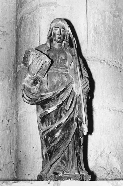 statuette : Sainte au livre