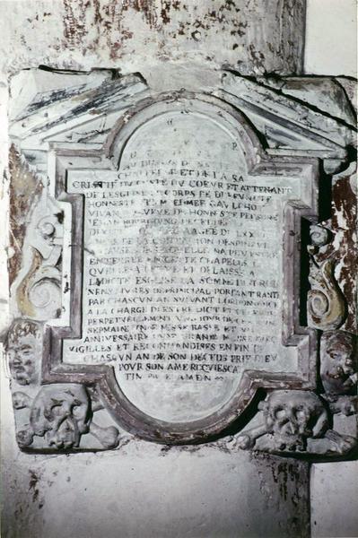 plaque funéraire d'Edmée Gaulchot