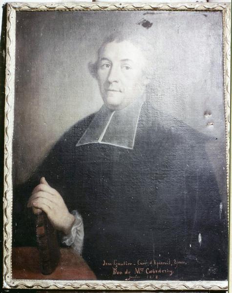tableau : Portrait de Jean Gautier, curé d'Epineuil