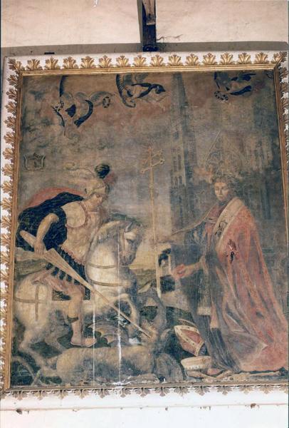 Tableau, cadre : saint Georges et saint Thomas de Cantorbéry