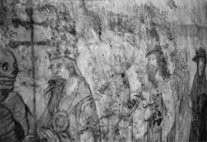 peintures monumentales : Danse macabre, Dit des trois morts et des trois vifs, L' Annonciation, saint Michel