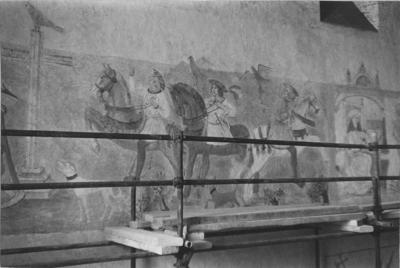 peintures monumentales : Danse macabre, Dit des trois morts et des trois vifs, L'Annonciation, Saint Michel
