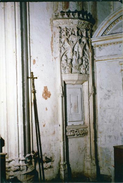 Niche, bas-relief : Le Christ au Jardin des Oliviers