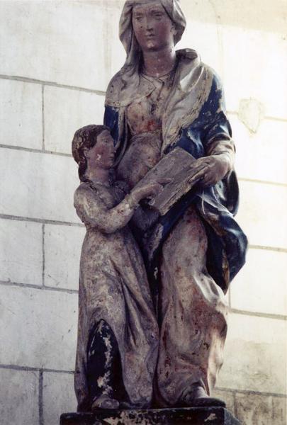 groupe sculpté : L' Education de la Vierge