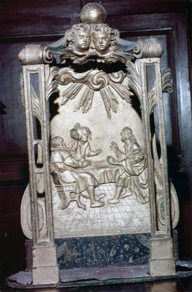 exposition (monstrance) : Les Pèlerins d'Emmaüs