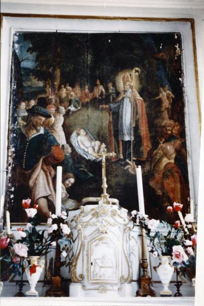 tableau : Ex-voto à saint Edme par Marc-Antoine de Beaujeu
