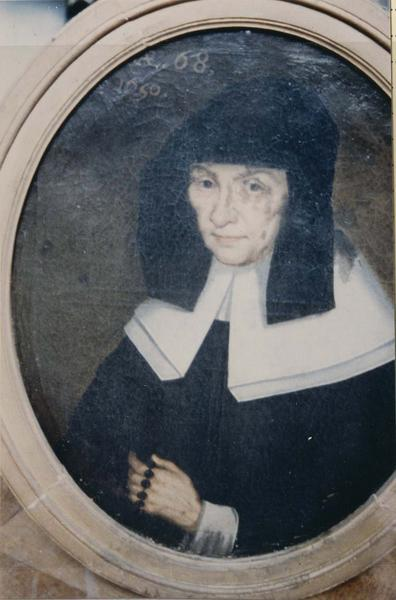 Tableau, cadre : Portrait d'une religieuse de la communauté de Notre-Dame