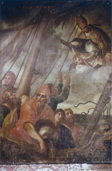 tableau : saint Nicolas protégeant les mariniers