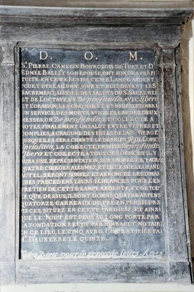 plaque commémorative de Pierre Camelin et d'Edmée Balley, sa femme