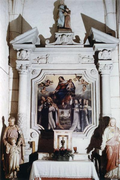 retable, tableau : L'Institution du Rosaire