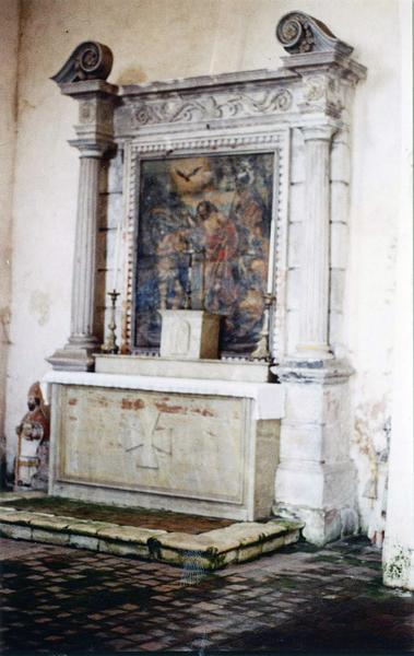 retable, tableau : Le Baptême du Christ