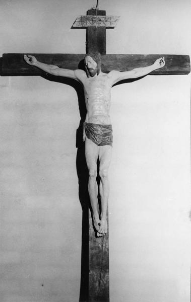 calvaire : Le Christ en croix, la Vierge et saint Jean