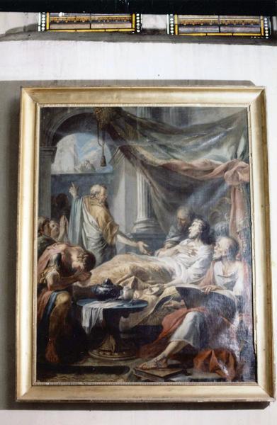 tableau, cadre : La Maladie et guérison du roi Ezéchias