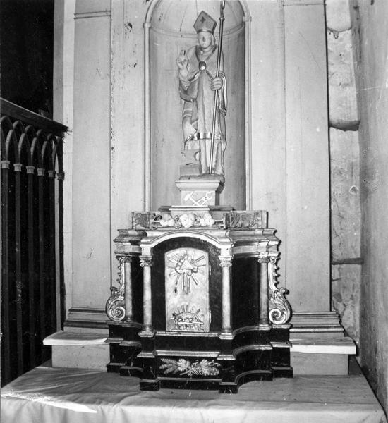 tabernacle, statue : saint Eloi