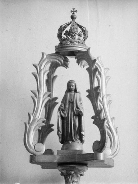 bâton de procession de confrérie : sainte Vierge