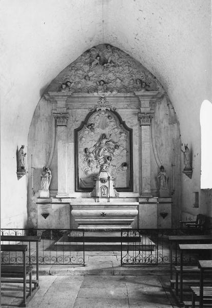 retable du maître-autel, clôture d'autel (grille de communion)