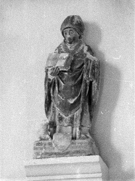 statuette : saint évêque au livre