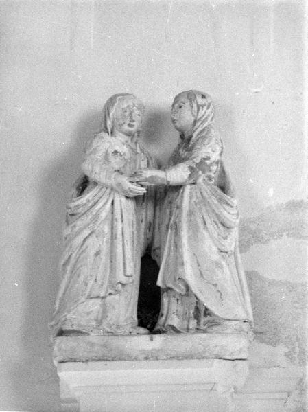 groupe sculpté : La Visitation