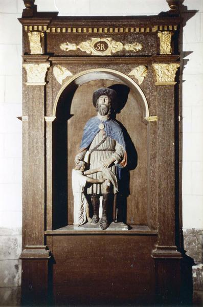 statue : saint Roch, niche