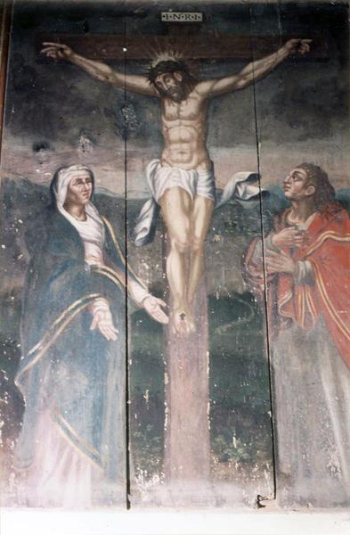 tableau : Calvaire, le Christ en croix
