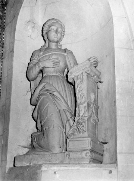 Groupe sculpté : La Vierge et l'ange de l'Annonciation