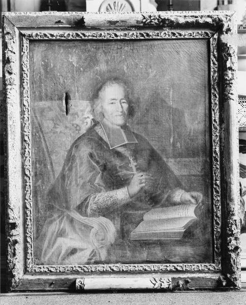 tableau, cadre : Portrait de l'évêque Monseigneur Bouhier
