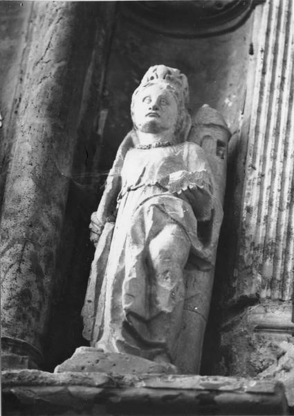 retable, 3 statues : Saint Jean, Vierge à l'Enfant, Sainte Barbe