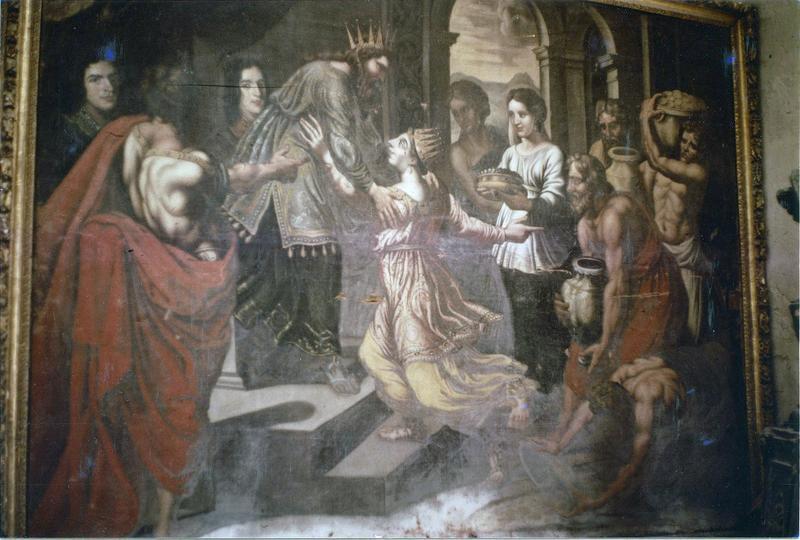 Tableau : La Visite de la Reine de Saba à Salomon