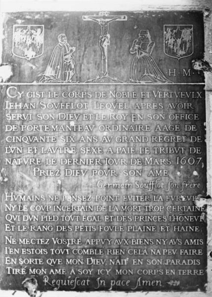 Plaque funéraire de Jean Soufflot