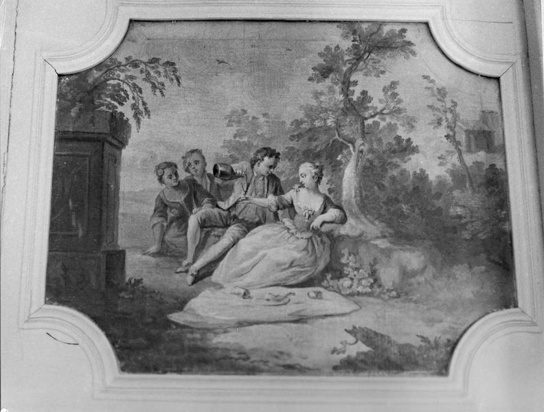 tableau : Le Repas champêtre, La Leçon de musique, Danse villageoise, La Baignade
