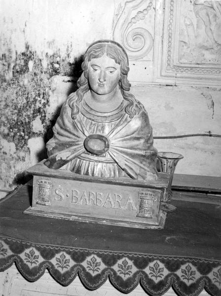 buste-reliquaire : sainte Barbara