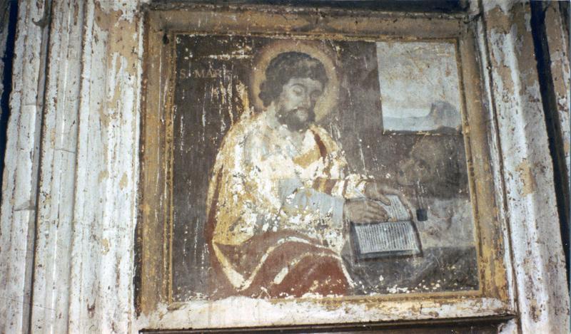 5 peintures monumentales : Le Christ aux liens, Les Quatre évangélistes avec leur symboles