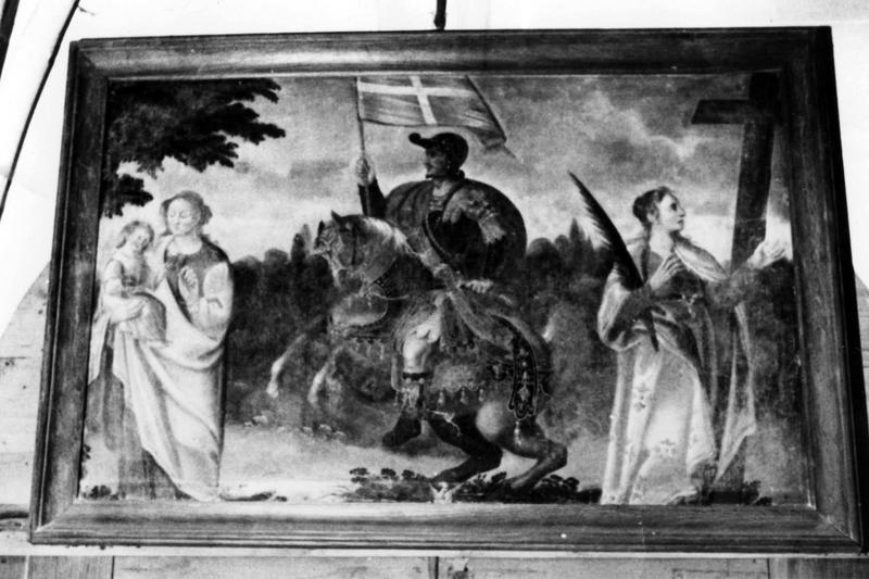 Tableau : Saint Ferréol avec la Vierge à l'Enfant et une sainte martyre