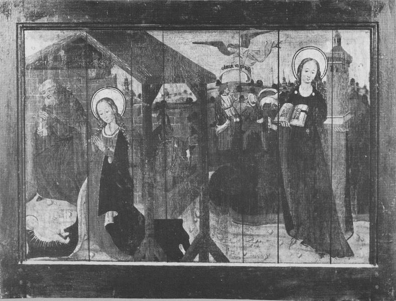 2 volets de polyptyque : L'Annonciation, La Nativité