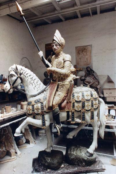 groupe sculpté : Saint Maurice