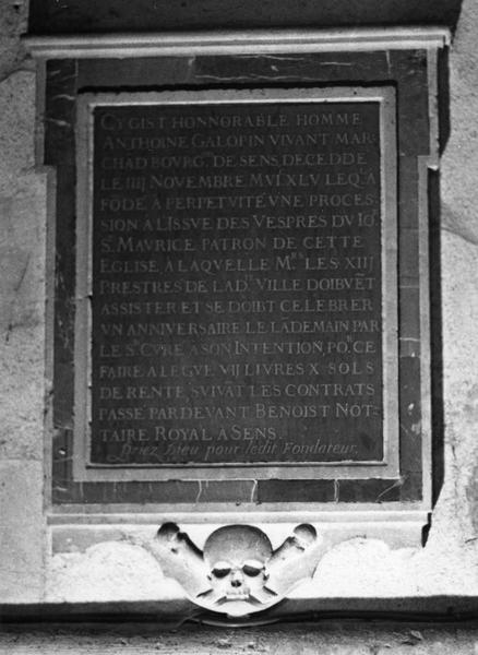 plaque commémorative d'Antonin Galopin, cadre