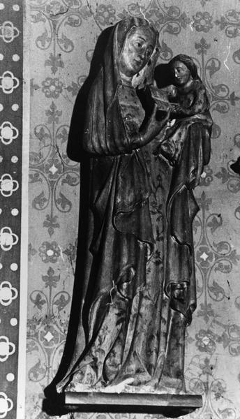 statue : Vierge à l'Enfant, groupe sculpté : Sainte Anne et la Vierge enfant