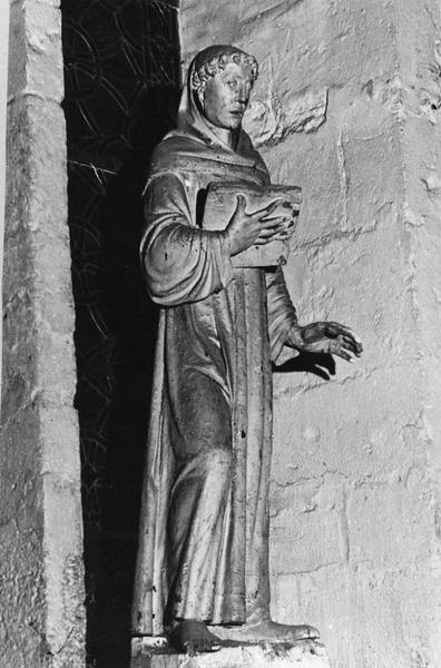Statue : Saint abbé au livre