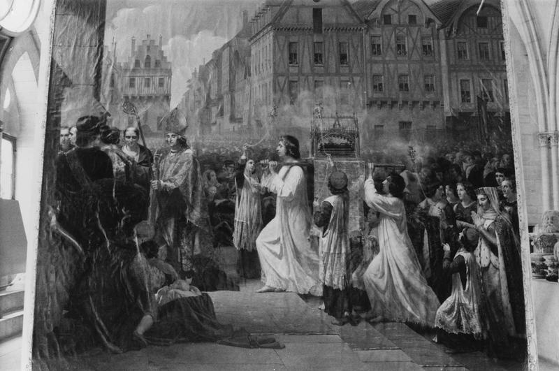 tableau : Susception de la sainte Couronne d'épines