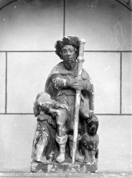 groupe sculpté : Saint Roch