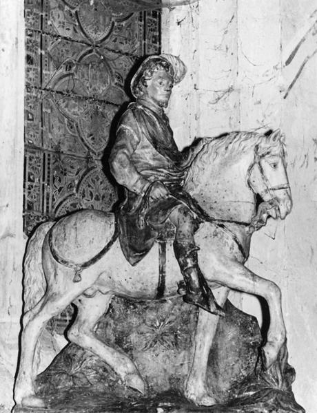 groupe sculpté : Saint Gengoult