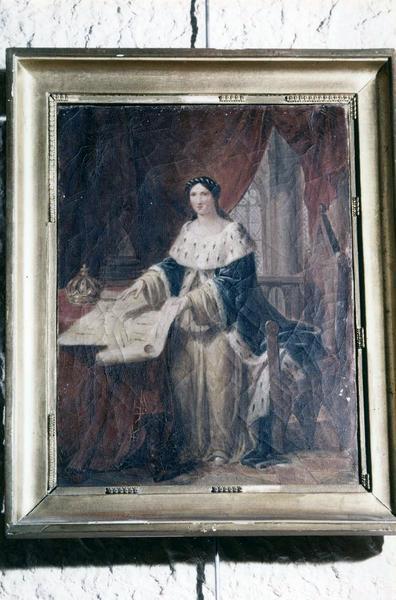 tableau, cadre : Marguerite de Bourgogne (étude)