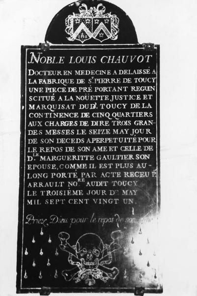 plaque commémorative de Louis Chauvot