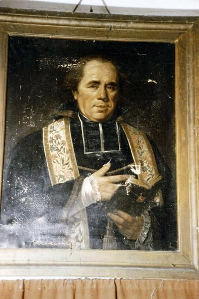 Tableau : Portrait de l'abbé Pautrat, curé de Treigny