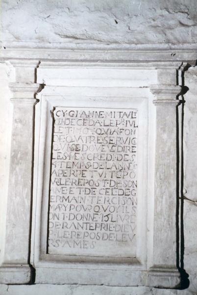 plaque funéraire d'Anne Mitault et de Germain Terci