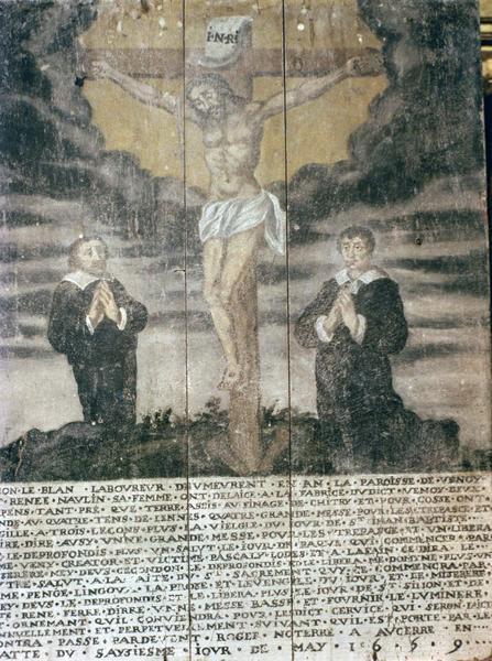 plaque commémorative de fondation de messes par Simon Leblanc et Renée Naulin, sa femme