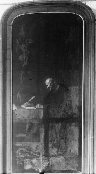 Tableau : Saint Benoît rédigeant la règle