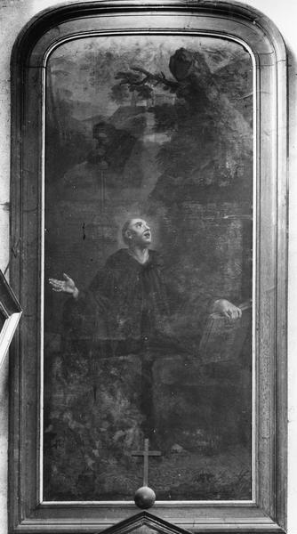 tableau : Saint Benoît dans la grotte de Subiaco